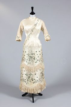 Dress Decorated with Beetle Wings 1870s Kerry Taylor Auctions.