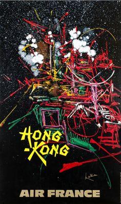 By Georges Matthieu (informalism movement), 1968, Hong-Kong, Air France.