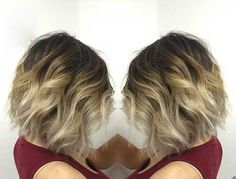 balayage ombre dark brown hair short hair - Google Search