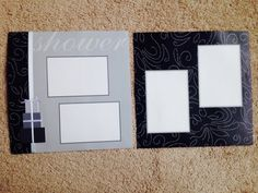 New TWO 12 X 12 PreMade Scrapbook Pages by YourScrapbookingShop, $3.99