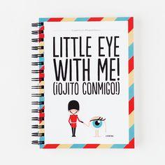 Cuaderno A5 - Little eye with me! Nos encanta el interior estampado.