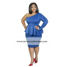 NEW ARRIVAL    ONE SHOULDER PEPLUM DRESSES  SIZE  1X  2X  3X  COLORS : BLACK  BLUE  WWW.CURVACEOUSBOUTIQUE.COM & IN STORE ❎VISIT THE WEBSITE FOR ALL DETAILS and PRICE ❎  WE SHIP WORLDWIDE