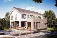 Fertighaus Architektenhaus Rubitano mit Pultdach von Büdenbender