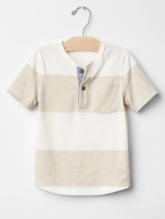 Heather stripe pocket henley Product Image