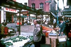 The miserable cabbage stall at Berwick Street market in 1966.