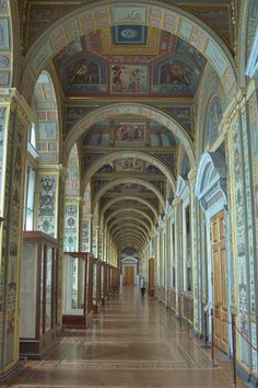 [The State Hermitage museum in Saint Petersburg, Russia. One of the largest and oldest museums in the world, founded in 1764 by Catherine the Great and open to the public since 1852.]