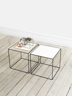 Modern and contemporary Danish and Scandinavian style Metal Side Tables