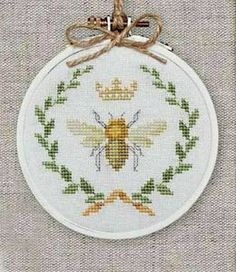 ≗ The Bee's Reverie ≗  Queen bee cross stitch