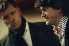 Voorzitter van de jury Ray Uiterwaal (l) en jurylid Willem Overbosch