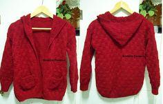 .: Casaco de tricot com capuz