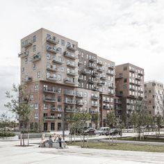 ADEPT. Cubic Houses . Copenhagen (2) appartementen materialisatie baksteen diversiteit verschuiving stapeling toren volume schakeling gevel