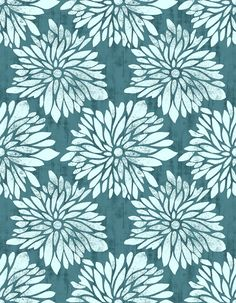 DAHLIA in Teal  PWTY012  Ty Pennington  Free by MoonaFabrics