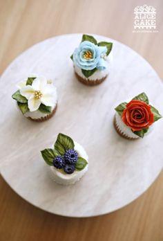 앨리스의 썸머플라워 컵케이크 앨리스 케이크의 새로운 버터크림 플라워를 만나보세요. : 네이버 블로그