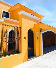 Casas exterior Casas pintadas exterior Casas amarillas Casas pintadas