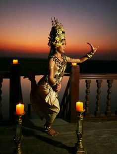 Apsara dancer or known to non-Cambodians as a member of the Royal Ballet of Cambodia.