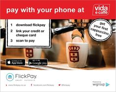 Pay with your phone at Vida E Caffe Willowbridge