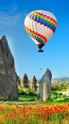 Air Ballon, Hot Air Balloon, Watercolor Landscape Paintings, Landscape Art, Beautiful Places, Beautiful Pictures, Beautiful Scenery, Paradise Places, Capadocia