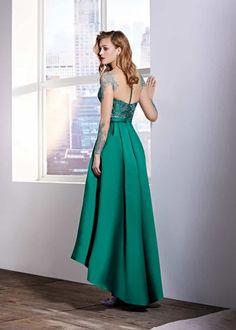 Combinar vestido verde marino