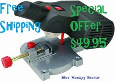 Precision Bench Top Mini Cut-Off Saw makes ACCURATE PRECISION CUTS in soft metals, wood and plastic