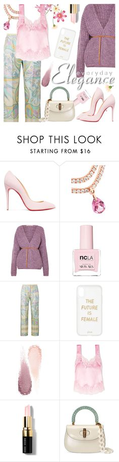 """Spring Mood"" by cilita-d ❤ liked on Polyvore featuring Christian Louboutin, Vanessa Bruno, ncLA, Emilio Pucci, Sonix, Clé de Peau Beauté, Givenchy, Bobbi Brown Cosmetics and Gucci"