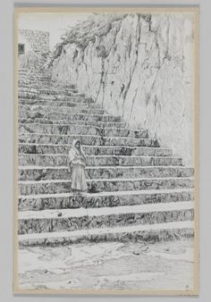 Steps Leading to the Tombs of the Prophets : James Tissot : Free Download & Streaming : Internet Archive