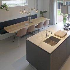 Home Interior Cocina .Home Interior Cocina Kitchen Interior, New Kitchen, Kitchen Decor, Corner Kitchen Tables, Cozy House, Home Accents, Home Kitchens, Kitchen Remodel, Kitchen Renovations