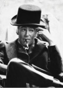 Irish actor Peter O'Toole takes a puff on his pipe on the 1971 set of 'Poor Bloody Ireland'.  Product in photo is from www.wellappointedhouse.com