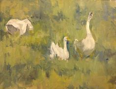 """Summer Morning with Music by Margie Lakeberg Oil ~ 16"""" x 20"""""""