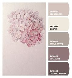 Instantly turn any picture into a palette with ColorSnap, created for you by Sherwin-Williams. Instantly turn any picture into a palette with ColorSnap, created for you by Sherwin-Williams. Small Bedroom Colours, Best Bedroom Colors, Bathroom Colors, Mauve Bathroom, Serene Bathroom, Calming Bedroom Colors, Calming Paint Colors, Paint Color Schemes, Bedroom Color Schemes