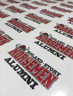 Cool decals for an alumni group! Get #CustomDecals from #Sportdecals for anything you need! 800-435-6110 or visit www.sportdecals.com