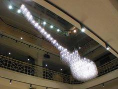 #Gibson Les Paul chandelier @ Hard Rock Café, Prague