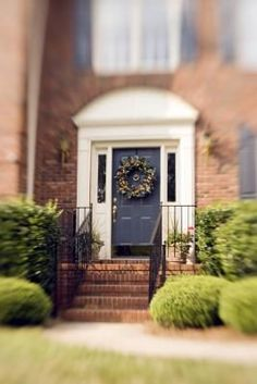 If you're not sure what color will look right for the front door of your house, try matching the front door to the shutters or trim.