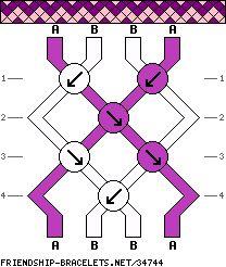 4 strings 4 rows 2 colors