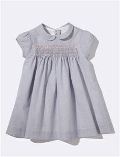 STRIPED SMOCKED DRESS, Babies