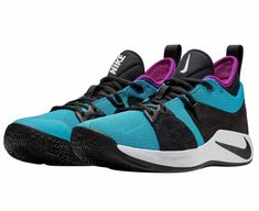 Details about Nike PG 2 Mens Basketball Shoes 10.5 Blue Lagoon Black Hyper  Violet Paul George ace351eee
