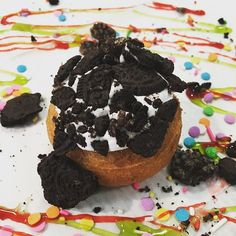"""@davincisdonuts """"Our #donut of the week- #Oreo Mint! Try it before it's gone! #breakfast #sweet #yummy #fun #atl #atlfood #alpharetta #sandysprings #treat #doughnuts""""  Located in Alpharetta and Sandy Springs!  http://www.hospitalityhighway.com/"""