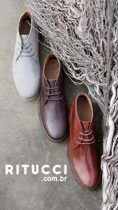 e59f8c450 As Chukka Boots Masculinas mais desejadas do Inverno estão na Ritucci. É  que não basta