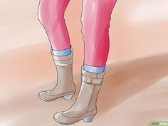 5 Ways to Stretch Boots - wikiHow How To Stretch Boots, 5 Ways, Rubber Rain Boots, Stretches, Calves, Platform, Heels, Fashion, Heel