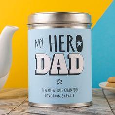Personalised Tea - My Hero Dad | GettingPersonal.co.uk