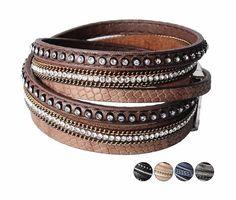 Leather Wrap Bangle Bracelet