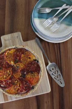 Tomato Tart With Cornmeal Basil Crust - Wit + Aroma
