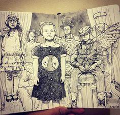 AMAZING fanart!!! Tim Burton, Hollow City, Miss Peregrine's Peculiar Children, Peregrine's Home For Peculiars, Miss Peregrines Home For Peculiar, Moleskine, Fanart, Amazing Art, Anime