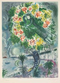 Chagall, Couple and Fish (Nice et la Côte d'Azur, CS.34)