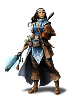 Female Cleric of Irori - Pathfinder PFRPG DND D&D d20 fantasy