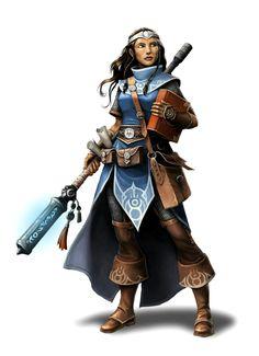 Female Cleric of Irori - Pathfinder PFRPG DND D&D d20 fantasy