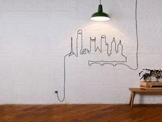 Ideias de decoração: 15 formas engenhosas de esconder os incómodos (e antiestéticos) fios elétricos
