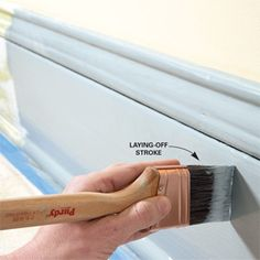 Tips for painting trim in a professional manner