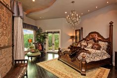 Old World style bedroom suite furnishings & accessories