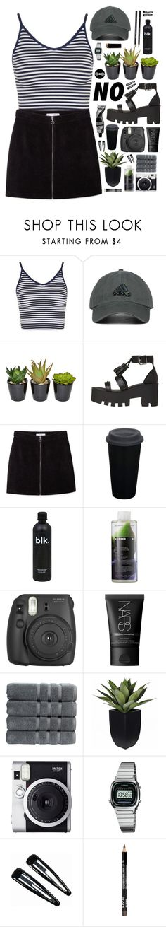 """ignition"" by kamakira ❤ liked on Polyvore featuring Topshop, adidas Originals, The French Bee, MANGO, Aesop, Korres, Fujifilm, NARS Cosmetics, Christy and Fuji"