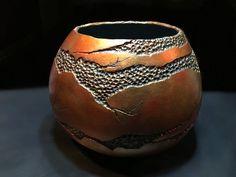 Aged Copper Gourd Bowl